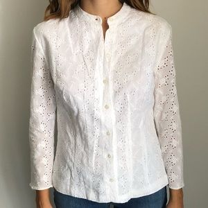 Polo Ralph Lauren cotton eyelet shirt